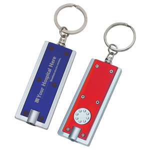 TCT132 - Rectangular Led Key Chain<br><font color=#1fba2d>Production Time: 3-5 Days</font><br><font color=#ff0000><i>As Low As: $0.99</i></font> - thumbnail